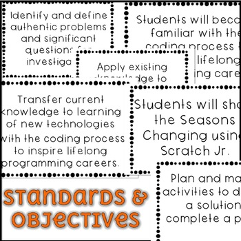 October Scratch Jr Programming Lesson Plan - Seasons Changing
