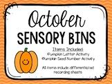 October Sensory Bins