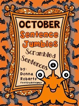 October Sentence Jumbles (Scrambled Sentences)