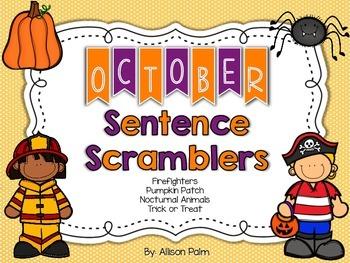 October Sentence Scramblers