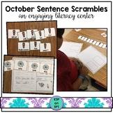 October Sentence Scrambles