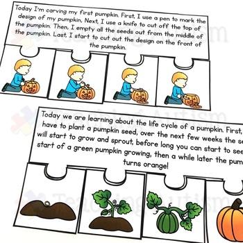 October Short Story Sequencing Jigsaws