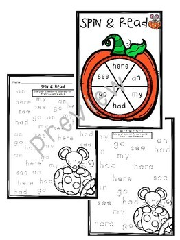 First Grade Sight Word Activities- October