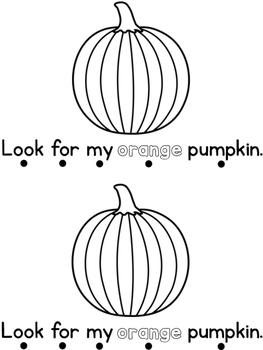 October Sight Word Book