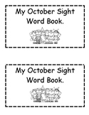 October Sight Word Book