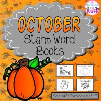 October Sight Word Books
