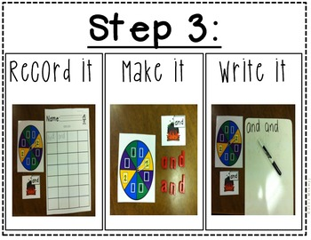 October Sight Word Center- Halloween Themed w/ Picture Instructions!