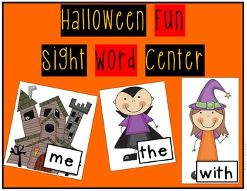 Halloween October Sight Word Center Themed Step-by-Step Picture Instructions