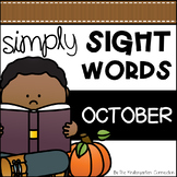 October Sight Word Games and Centers - Editable