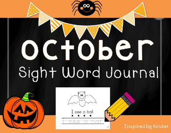 October Sight Word Journal-Print and Go!