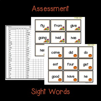 October Sight Word Partner, Print, & Play Board Games and Assessment