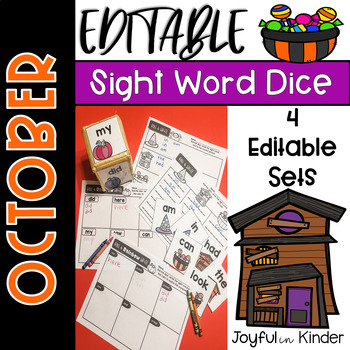 October Sight Word Roll {EDITABLE}
