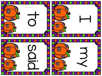 October Sight Word Write-Around-the-Room Activity!
