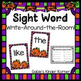 October Sight Word Write-Around-the-Room Activity!