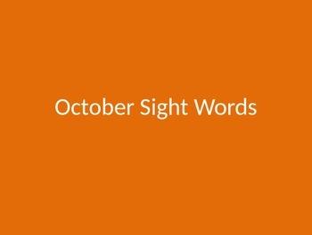 October Sight Words