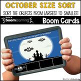 October Size Sort BOOM CARDS™ | Digital NO-PREP | Distance