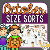 October Size Sorts - CCSS Aligned for Kindergarten