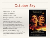 October Sky Film Discussion Questions PPT
