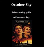 October Sky Movie guide    3 days with answer key