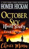 October Sky Novel Study Final Project Choice Menu
