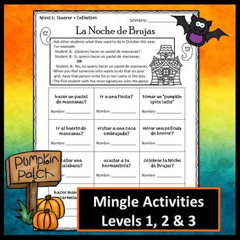 Spanish Halloween Activity BUNDLE (October)