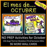 Spanish Halloween Activities BUNDLE