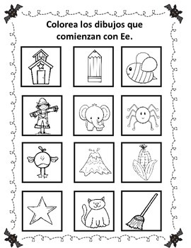 October Spanish Literacy Fun:  No Prep