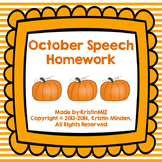 October Speech Homework