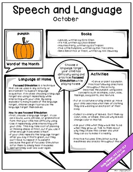October Speech & Language Newsletter