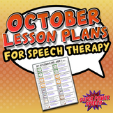 October Speech Lesson Plans (FREE)