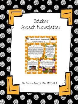 October Speech Newsletter