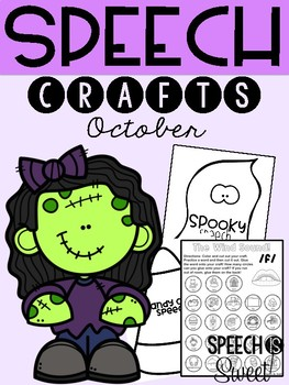 October: Speech Therapy Crafts