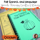 Fall Speech and Language | Speech Therapy Craft | Halloween Speech and Language