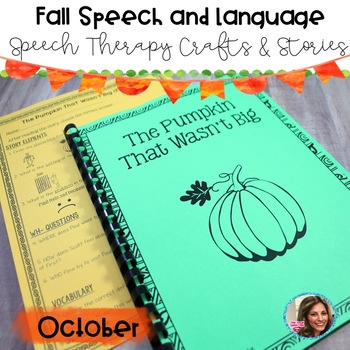 Fall Speech and Language | Speech Therapy Craft | Halloween Speech and Language
