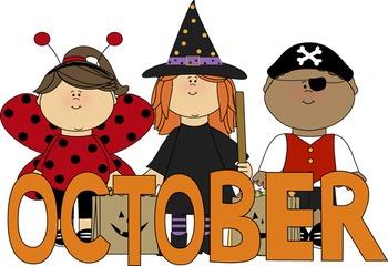 October Spelling Tic Tac Toe