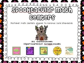 October Spooktacular Math Centers CCSS Aligned