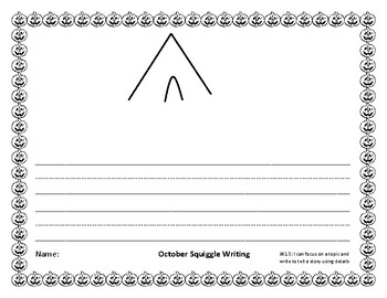 October Squiggle Writing Bundle