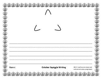 October Squiggle Writing Bundle