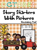 October Story Starters and Vocabulary Too!