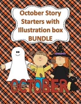 October Story Starters with Illustration Boxes