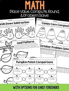 October Emergency Sub Plans for 3rd & 4th grade (using Stellaluna)
