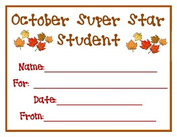 October Super Star Student Award