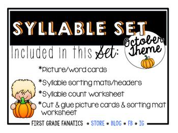 October Syllable Set