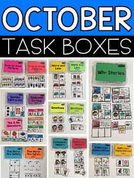 October Task Boxes
