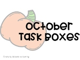 October Task Boxes - for Student with Autism
