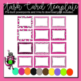 Task Card Template | 480 editable ppt slides | 10 color options | 12 Backgrounds