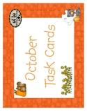 October Task Cards Medium