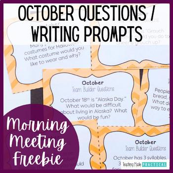 October Class Meeting Questions