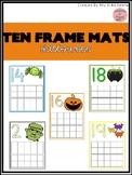 Halloween Ten Frame Mats 1-20