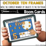 October Ten Frames  BOOM CARDS™ | Digital NO-PREP | Distan